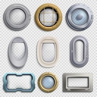 Verschillende patrijspoorten geïsoleerde vector set