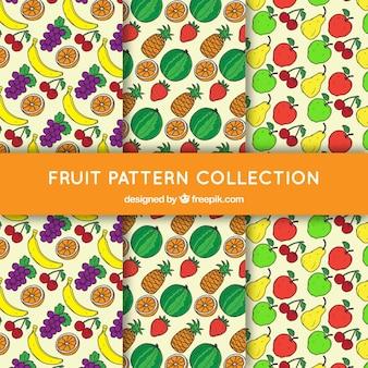 Verschillende patronen met smakelijke vruchten
