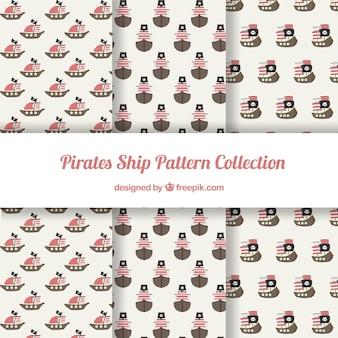 Verschillende patronen van piratenelementen