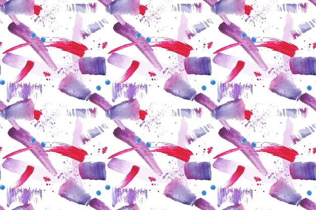 Verschillende penseelstreken naadloze patroon