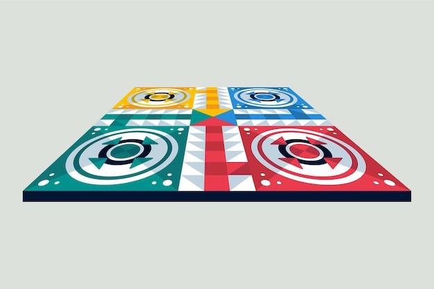 Verschillende perspectieven ludo bordspel