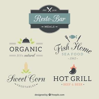 Verschillende restaurant logo templates