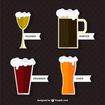 Verschillende soorten bier set