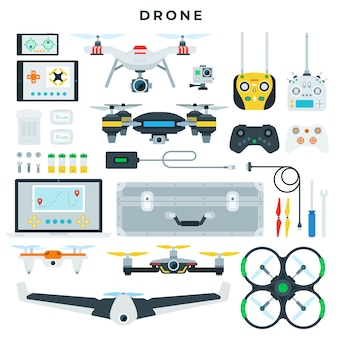 Verschillende soorten drones en hun controletools