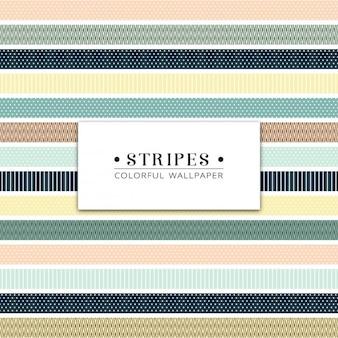 Verschillende soorten gekleurde strepen