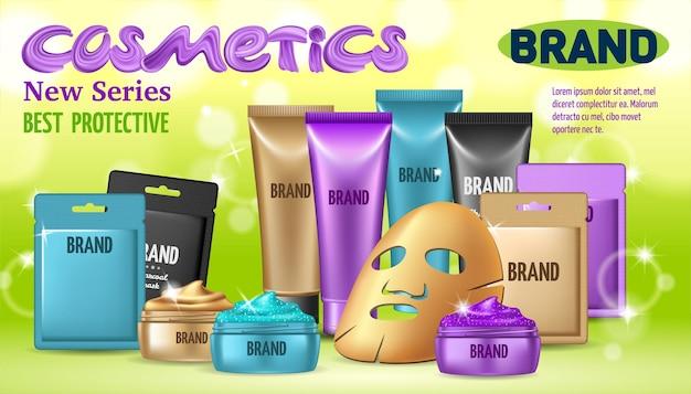 Verschillende soorten gezichtsmaskers Premium Vector