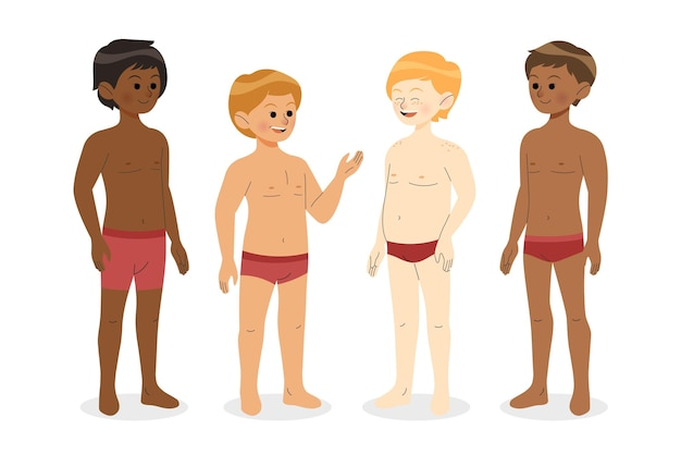 Verschillende soorten mannelijke lichaamsvormen