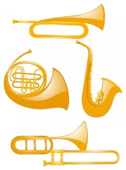 Verschillende soorten muziekinstrumenten