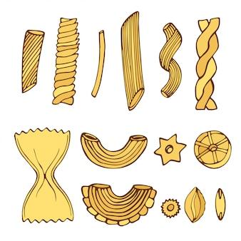 Verschillende soorten pasta