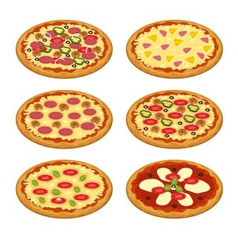 Verschillende soorten pizza's