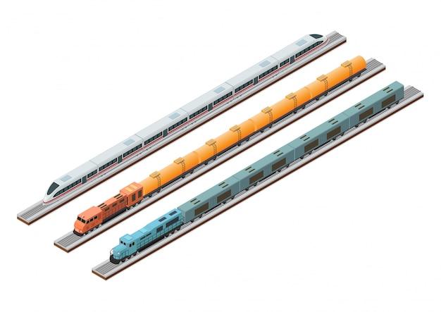 Verschillende soorten treincircuits op het spoor