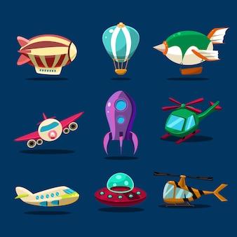 Verschillende soorten vliegtuigen