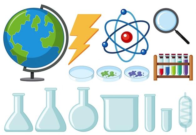 Verschillende soorten wetenschappelijke apparatuur