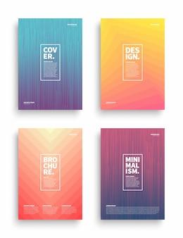 Verschillende stijl brochure flyer broadsheet poster plakkaat presentatie ontwerpsjabloon
