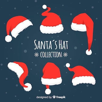 Verschillende stijlen santa's hoeden pack