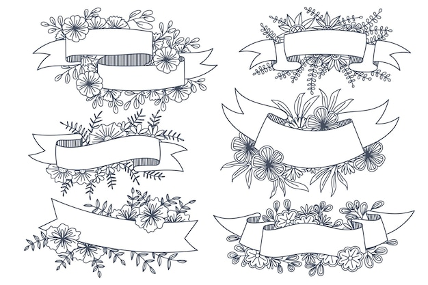 Verschillende stijlen van bloemframes
