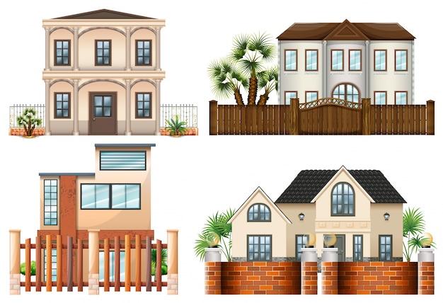 Verschillende sytle van huizen
