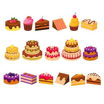 Verschillende taarten collectie