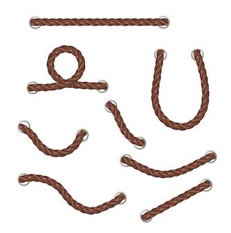 Verschillende touw uit het gat