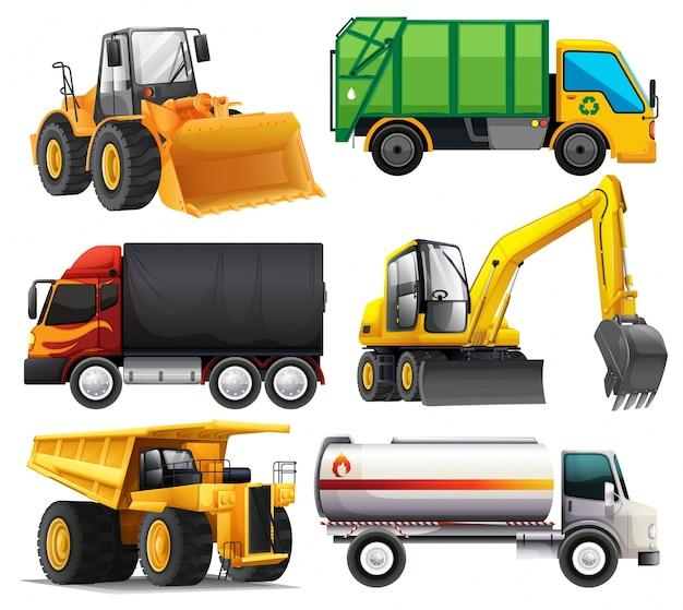 Verschillende types van vrachtwagens
