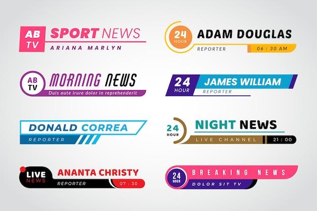 Verschillende uitzendingen stomende breaking news