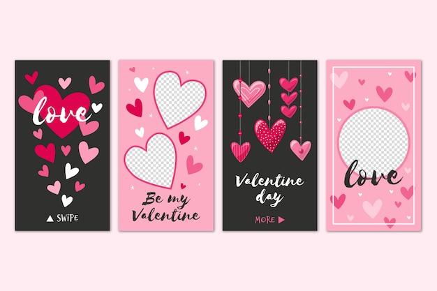 Verschillende valentijnsdag verhaal set