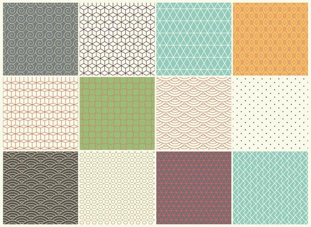 Verschillende vector naadloze patroneninzameling
