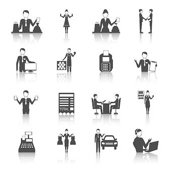 Verschillende verkopers cijfers pictogrammen instellen