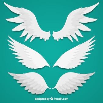 Verschillende vleugels in vlakke vormgeving