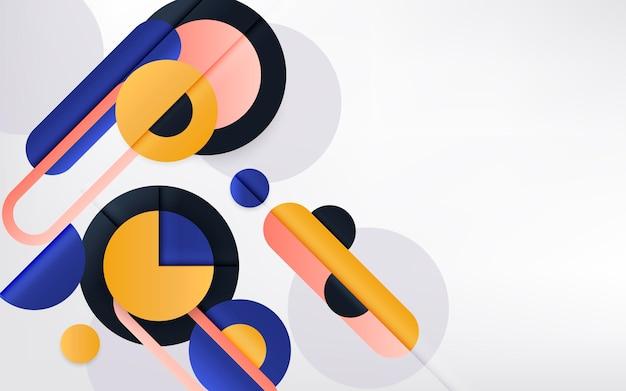 Verschillende vormen gradiënt geometrische achtergrond