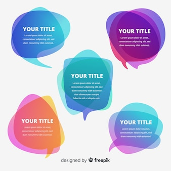 Verschillende vormen tekstballonnen