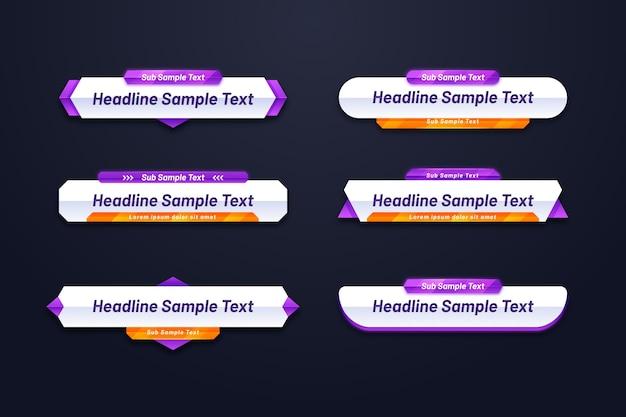 Verschillende vormen van websjabloon voor spandoek
