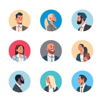 Verschillende zakenmensen avatar instellen