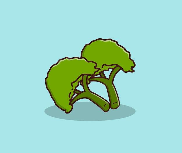 Verse broccoli hand tekenen illustratie