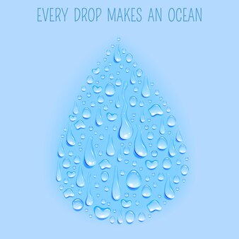 Verse ecologisch schone natuurlijke waterbanner