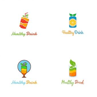 Verse en kleurrijke gezonde drank logo sjabloon