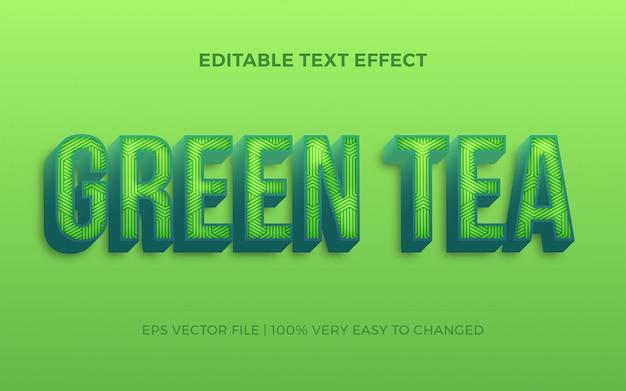 Verse groene thee lettertype effect bewerkbare stijl