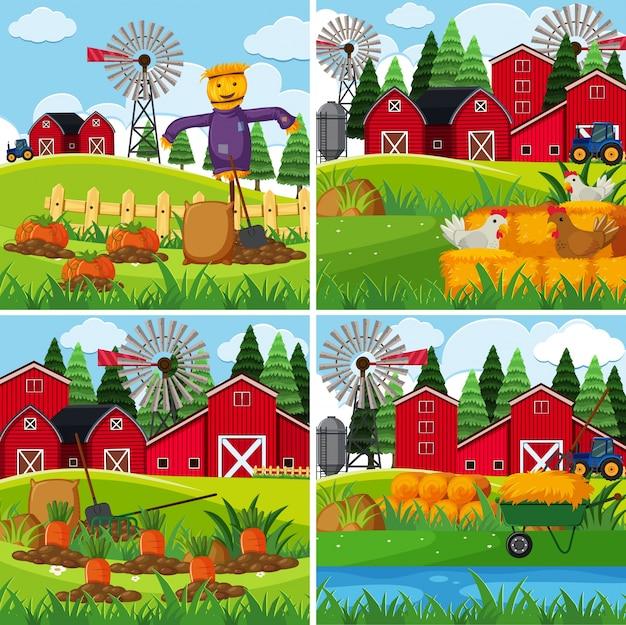 Verse groenten op de boerderijen