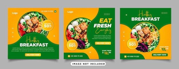 Verse groenten voor social media post restaurant en culinaire promotin