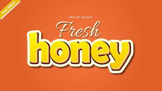 Verse honing teksteffect ontwerp vector 3d-stijl bewerkbaar lettertype effect.