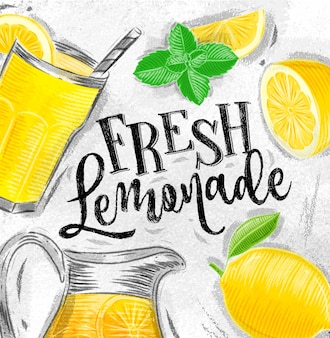 Verse limonadetekening poster