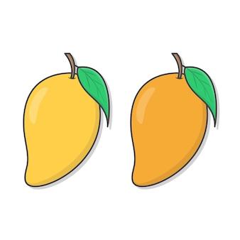 Verse mango pictogram illustratie