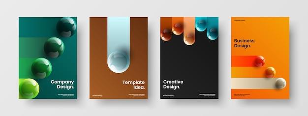Verse pamflet ontwerp vector concept bundel