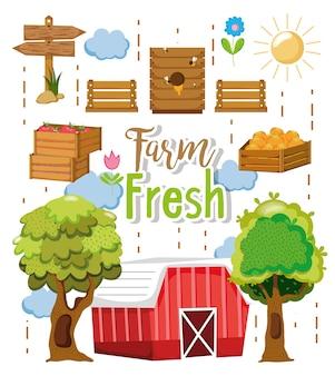 Verse producten van de boerderij