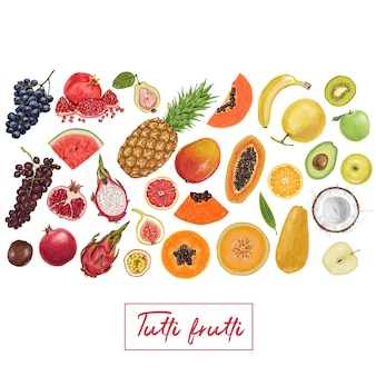 Verse, sappige fruit tropische collectie