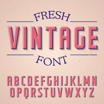 Verse vintage lettertype poster op de roos illustratie