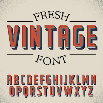 Verse vintage lettertype poster
