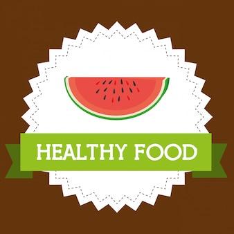 Verse watermeloenplak gezond voedsel