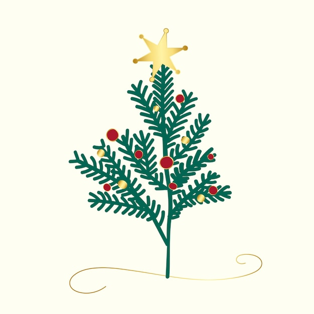Versierd kerstboomontwerp