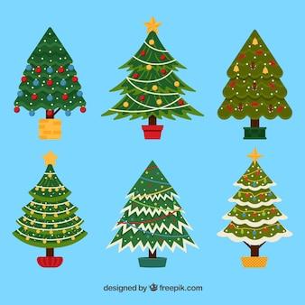 Versierde kerstbomen collectie